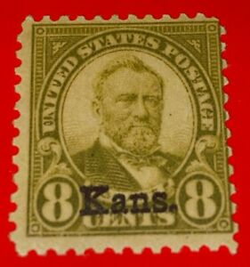 USA 1929 Kansas 8¢ Grant Scott 666 Very Fine Mint NH OG