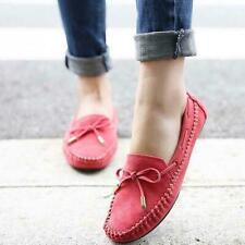 Chic Women's Suede Casual Bowknot Moccasins Driving Loafers Slip-on Flat Shoes