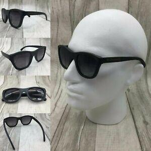 Men's Black Bamboo Frame Gradient Tinted TAC Polarized Lenses Sunglasses