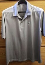 ADIDAS GOLF CLIMACOOL XL Mens Grey Button Up Polo Polyester Mesh Shirt