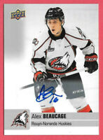 2019-20 Alex Beaucage Upper Deck CHL Rookie Auto - Colorado Avalanche