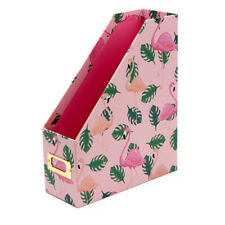 Magazine File Stylish Storage Solution for Magazines And Papers - Flamingo File