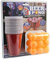 36pc Beer Pong Drinking Game Alcohol American Cup Gift Christmas Frat Party Ping