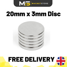 SUPER STRONG Neodymium Disc Magnets 20mm x 3mm N42 Rare Earth Magnets - LARGE