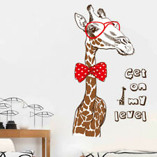 Wandtattoo Giraffe Aufkleber Wandsticker Wohnzimmer Schlafzimmer Tiere Afrika