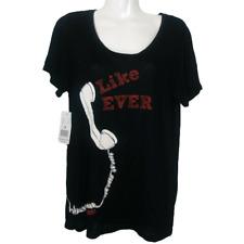 Taylor Swift Like Ever Women Small Concert TShirt Black Short Sleeve Top 05X