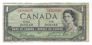 Canada - 1954 One Dollar !!Devil's Face!!