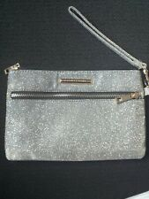 Silver Clutch Bag with Gold Shift. 2 Zips Brand New With Tags Dorothy Perkins