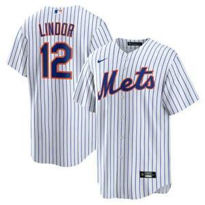 New York Mets Francisco Lindor #12 Nike Men's Official MLB Player Jersey