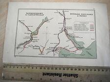 GREENORE DUNDALK LONDONDERRY CULMORE NEWRY CASTLEWELLAN R FOYLE RAILWAY MAP 1928