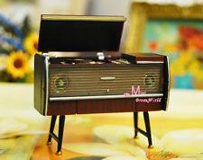 1:24 Dollhouse Miniature VINTAGE Classical Photograph Gramophone Magnet Figure