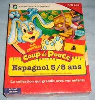 METHODE LANGUE ENFANTS SUR PC/MAC / COUP DE POUCE ESPAGNOL 5/8 ANS / NEUF