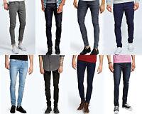 Mens Designer Skinny Denim Jeans Stretch Slim Fit All Waist & Sizes Pants