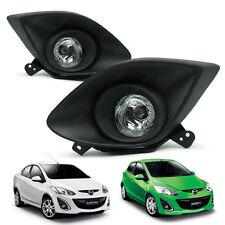 Fog Lamp Spot Light Kit Set + Cover Black LH RH For Mazda 2 2007 - 2011