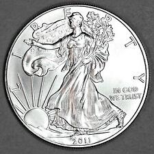 2011 UNCIRCULATED AMERICAN SILVER EAGLE, 1oz 0.999 FINE SILVER (29)