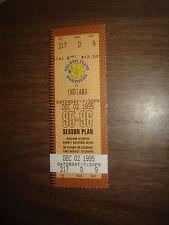Ticket Stub Nba Warriors Vs Indiana 12/2/95 Full Unused Ticket