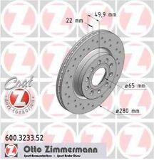 Disque de frein avant ZIMMERMANN PERCE 600.3233.52 SEAT ALTEA XL 1.4 16V 86ch 5P