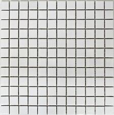 Keramikmosaik uni weiß matt Fliesenspiegel Küche Wand Art: 18D-0111 | 10 Matten