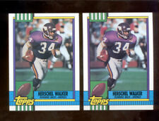 1990 Topps HERSCHEL WALKER Minnesota Vikings Card Lot both Disclaimer Versions