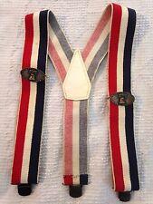 Men's Vintage Patriotic Liberty Bells Elastic Adjustable Suspenders