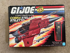 GI Joe ARAH Cobra Stellar Stiletto 1988 100% Complete Sealed Driver Box