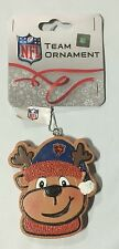 Chicago Bears Gingerbread REINDEER Christmas Tree Holiday Ornament NEW RN14