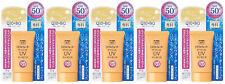 5 pcs SHISEIDO SENKA Mineral Water UV Essence Q10 Aging Care SPF50+ PA++++ Japan
