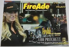 "2016 Leah Pritchett FireAde 2000 ""4th issued"" Top Fuel Nhra postcard"