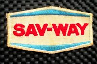 "SAV WAY EMBROIDERED SEW ON PATCH ADVERTISING BADGE COMPANY 3 1/2"" x 2"""