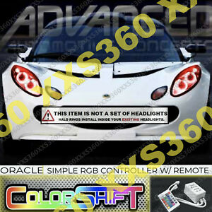 ORACLE Headlight HALO KIT RINGS for Lotus Elise 04-08 COLORSHIFT LED Simple RGB