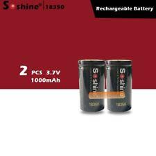 HIGH Grade!! 2PCS 18350 battery 1000mAh 3.7V Li-ion Rechargeable Battery