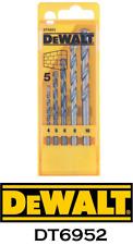 Dewalt 5 Piece Masonry Drill Bit Set Dt6952 4 10mm Brick Block Stone Tile
