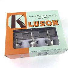 Kluson Strip 3x3 Nickel Round Button Tuners for Vintage Gibson® Guitar WD90NPM