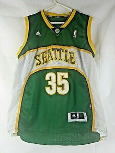 Kevin Durant NBA Authentic Jersey Seattle 35 Adidas L Length +2