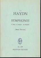 Haydn. Symphonie C-Dur ( Maria Theresia ) Studienpartitur.