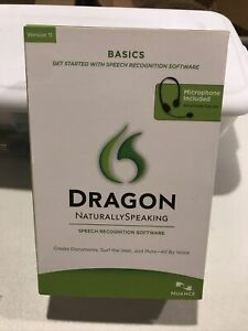 Dragon Naturally Speaking Speech Recognition Software Ver.11 Basics w/ Mic, New
