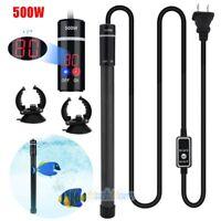 500W LED Aquarium Submersible Water Heater Titanium Alloy for Fish Tank 110V