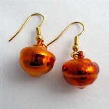 Acorn Pendientes Joyas hoja real de cobre Iridiscente