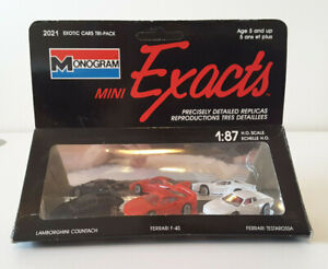 1989 MONOGRAM MINI EXACTS AMERICAN MUSCLE TRI-PACK, 2020-HO SCALE 1:87 57 Chevy