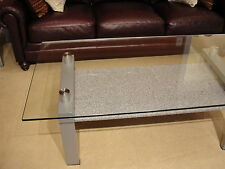 Amalfi Contemporary Glass/Granite/Metal coffee and end table set