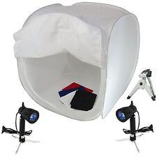 Cube Boite Lumière Softbox Diffuseur Cabine 80cm + Trépied 2x Lampe 4x Fond +Sac