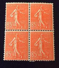 France N° 204 85 C Rouge Neuf ** Bloc De Quatre TB Qualité  Côté 108€