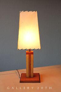 STYLISH! MID CENTURY MODERN SCULPTURAL WOOD LAMP! 50'S ATOMIC VTG 60'S LIGHT MCM