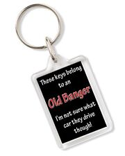 These Keys Belong To An Old Banger Car Humour Keyring Ideal Birthday Gift AK301