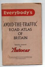 Everybody's Avoid the Traffic Road Atlas (Maps) of Great Britain 1956 Autocar