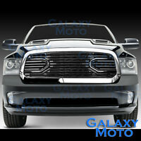 13-17 Dodge RAM 1500 Front Hood Big Horn Black Replacement Grille+Chrome Shell