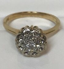 Engagement Ring With Diamond 14 Kt Yellow Gold Vintage