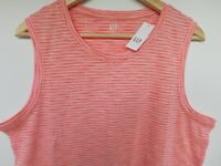 NWT Gap Women's Tank Top Soft Easy Pink Striped XS S M L XL New Free Ship New