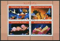 Chad 2019 CTO Fantasia Mickey Mouse 4v M/S I Disney Cartoons Animation Stamps