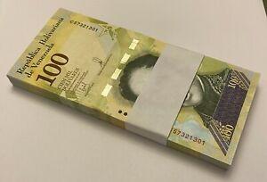 Venezuela 100,000 100000 Bolivares X 100 Pcs Bundle 2017 Pick 100b(4) UNC